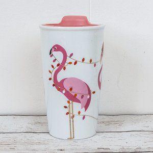 David's Tea Flamingo Travel Mug Cup Coffee Tea